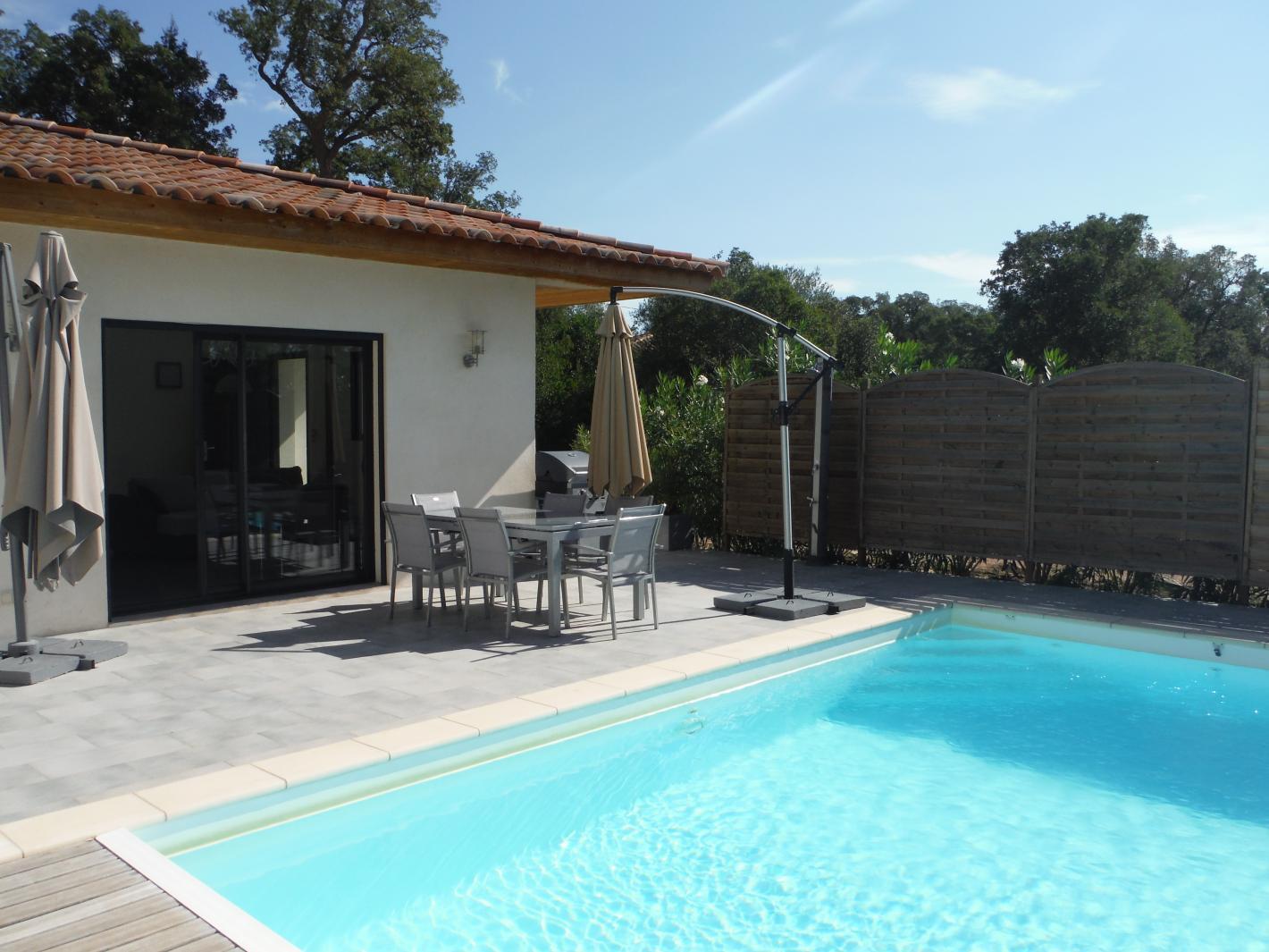 A louer villa avec piscine priv e chauff e au calme porto for Prix piscine chauffee