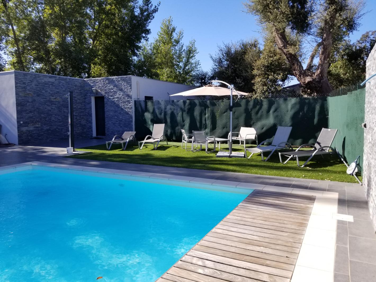 Villa avec piscine priv e 10 mn plage saint cyprien - Location maison piscine porto vecchio ...
