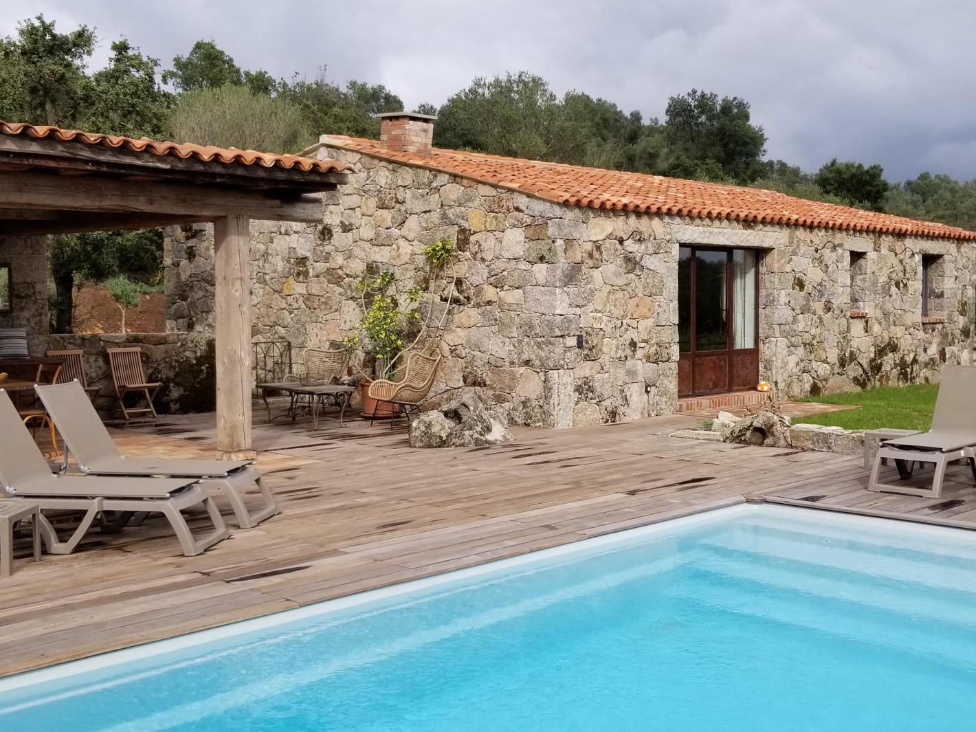 Maison bergerie corse avec piscine priv e chauff e porto - Location villa avec piscine en corse ...