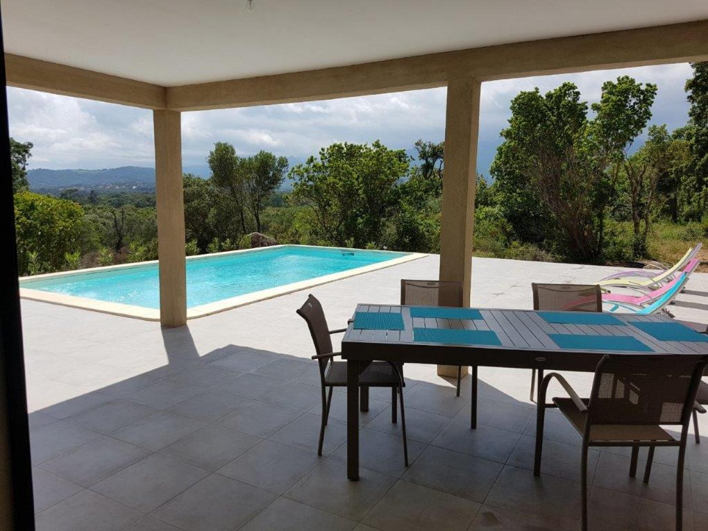 Villa avec piscine priv e proche plage fautea sainte lucie - Location maison piscine porto vecchio ...