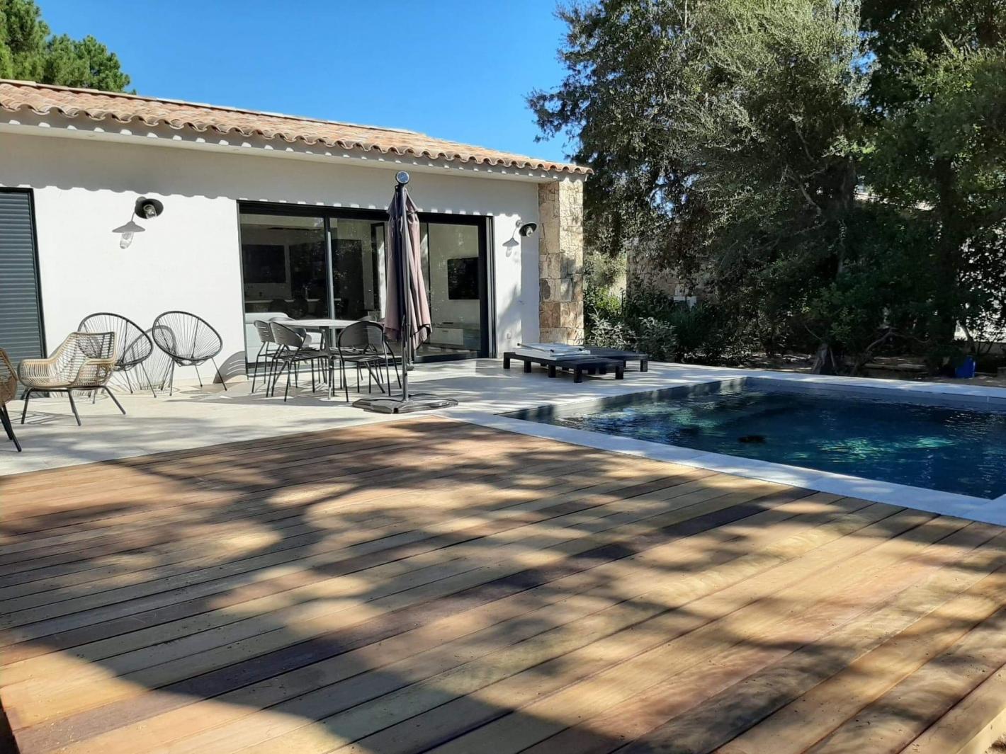 Location maison en pierre neuve avec piscine chauff e - Location maison piscine porto vecchio ...